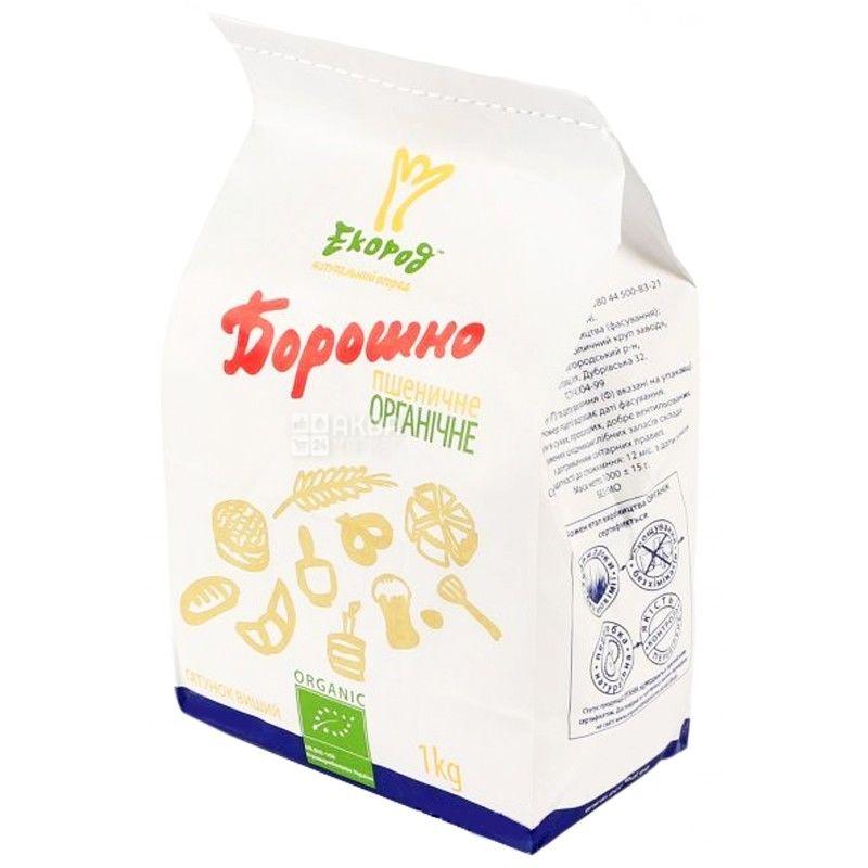 Екород, Борошно пшеничне, органічне, вищий сорт, 1 кг
