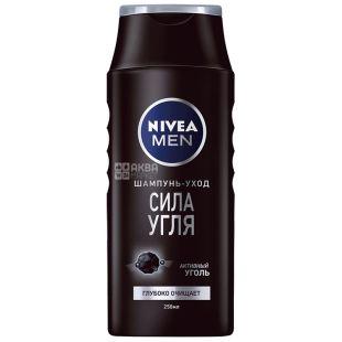 Nivea, 250 мл шампунь для чоловіків, Сила вугілля