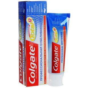 Colgate Total 12 Pro, 75 мл, Зубная паста профессиональная отбеливающая