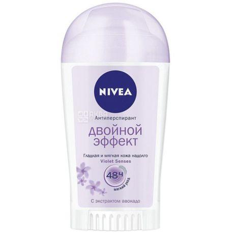 Nivea, 40 мл, Дезодорант твердый антиперспирант, Двойной эффект