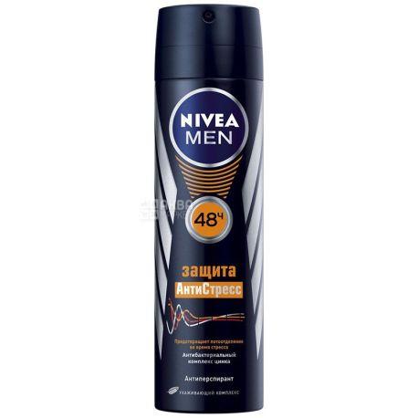 Nivea, 150 мл, дезодорант спрей антиперспірант, Захист Антистрес для чоловіків
