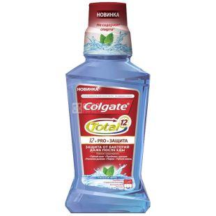 Colgate, 250 мл, жидкость для полоскания рта, TOTAL 12, Сильная мята