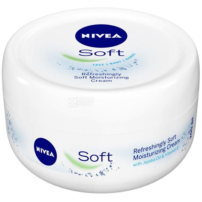 Nivea, 200 мл, крем интенсивный увлажняющий, Soft, ПЭТ
