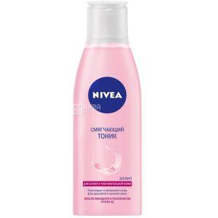 Nivea, 200 мл, тоник смягчающий, Для сухой и чувствительной кожи, ПЭТ