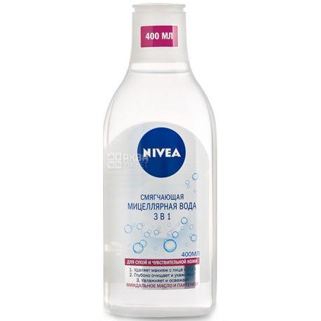Nivea, 400 мл, пом'якшувальна міцелярна вода, 3 в 1