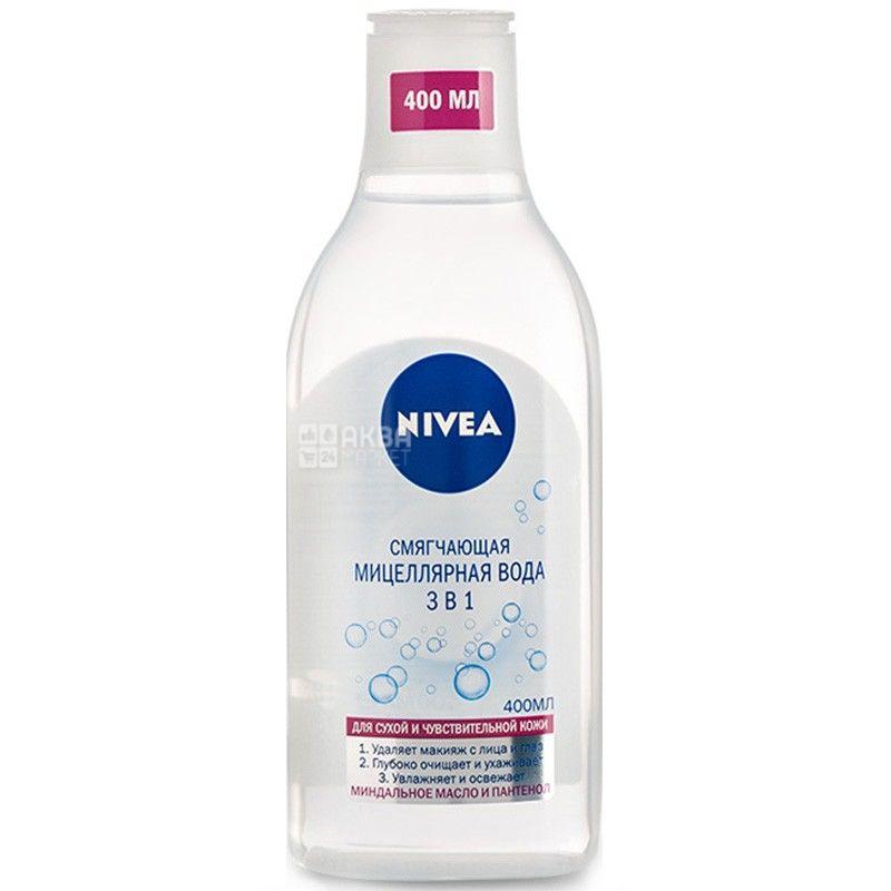 Nivea, 400 мл, смягчающая мицеллярная вода, 3 в 1