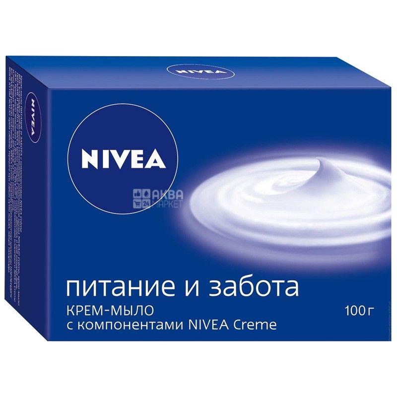 Nivea, 100 г, крем-мыло, Питание и забота