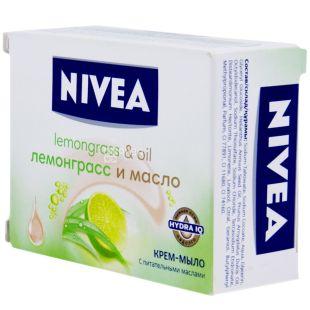 Nivea, 100 г, крем-мыло, Лемонграсс и масло