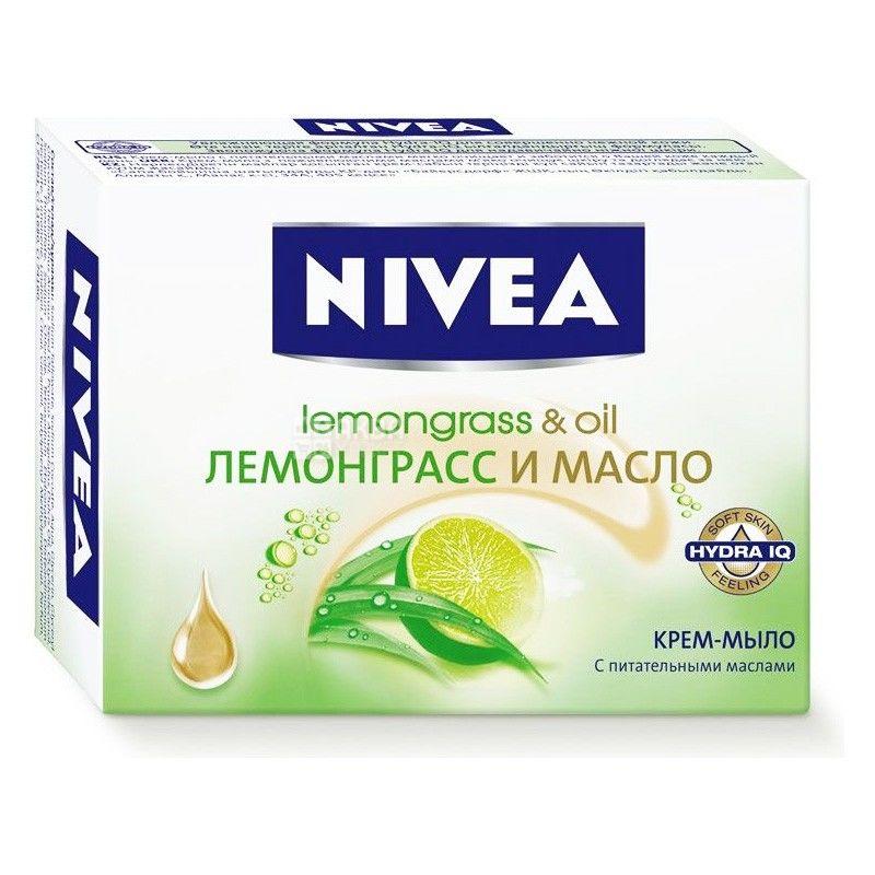 Nivea, 100 г, крем-мило, Лемонграс та олія