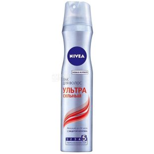 Nivea, 250 ml, hair spray, Ultra strong