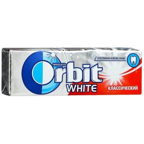Orbit White Classic, 14 г, Жувальна гумка, Орбіт