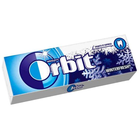 Orbit, 14 g, chewing gum, Winterfresh