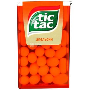 Tic Tac, 16 g, Chewable Bean, Orange