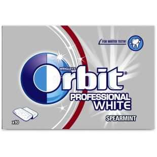 Orbit, 14 g, chewing gum, Professional White
