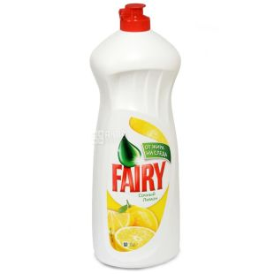 Fairy, pack of 10 pcs. 1 l each, dishwashing detergent, Lemon