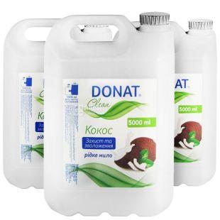 Donat, 5 л, мыло для рук, упаковка по 10 шт., Кокос