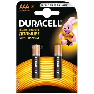 Duracell, упаковка по 10 шт., AAА, батарейки, м/у