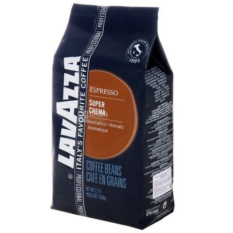 Lavazza, Super Crema, 1 кг, Кофе Лавацца, Супер Крема, средней обжарки, в зернах