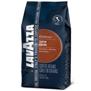 Lavazza, 1 кг,  зерновой кофе, Super Crema