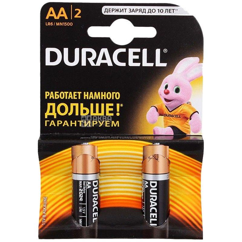 Duracell, упаковка по 20 шт., АА, батарейки, м/у