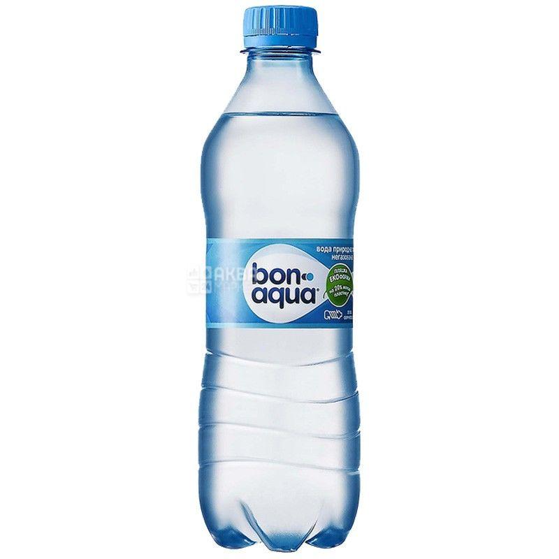 BonAqua, 0,5 л, БонАква, Вода минеральная негазированная, ПЭТ