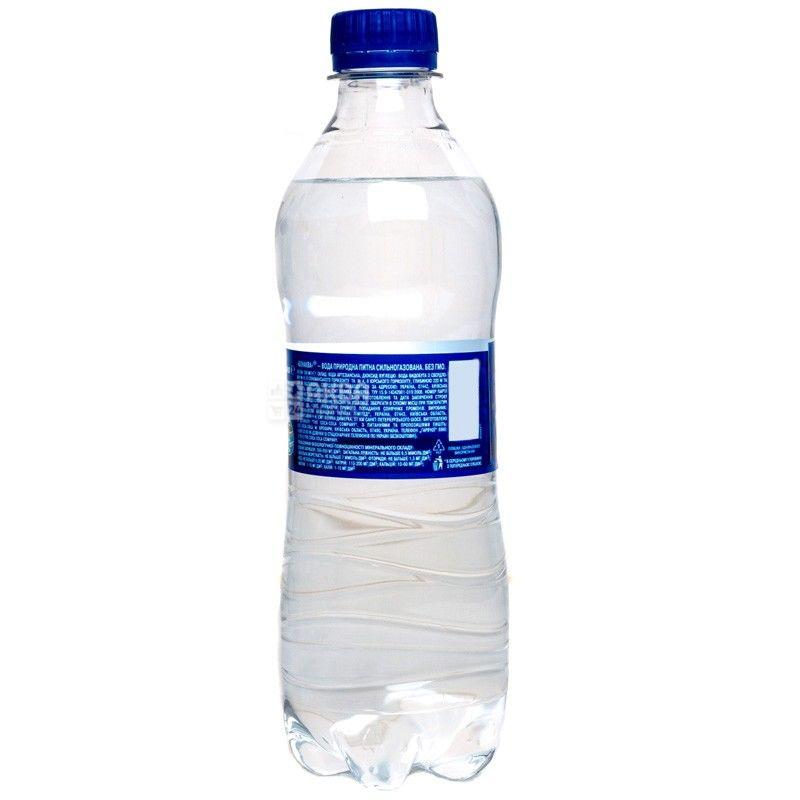 BonAqua, 0,5 л, БонАква, Вода минеральная сильногазированная, ПЭТ