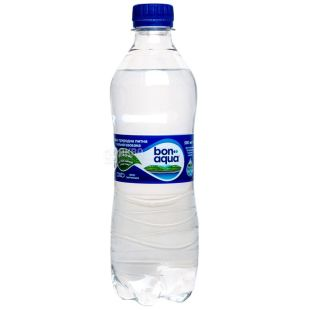 BonAqua, 0,5 л, Вода сильногазована, ПЕТ