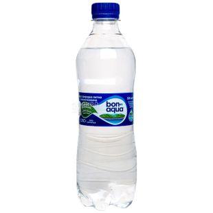 BonAqua, 0,5 л, Упаковка 12 шт., БонАква, Вода минеральная сильногазированная, ПЭТ