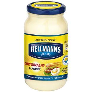 Hellmans, 420 г, майонез, Оригинальный, стекло