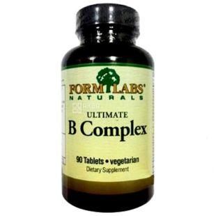 Form Labs Naturals, 90 капс., Вітамінно-мінеральний комплекс, Ultimate B-Complex, ПЕТ
