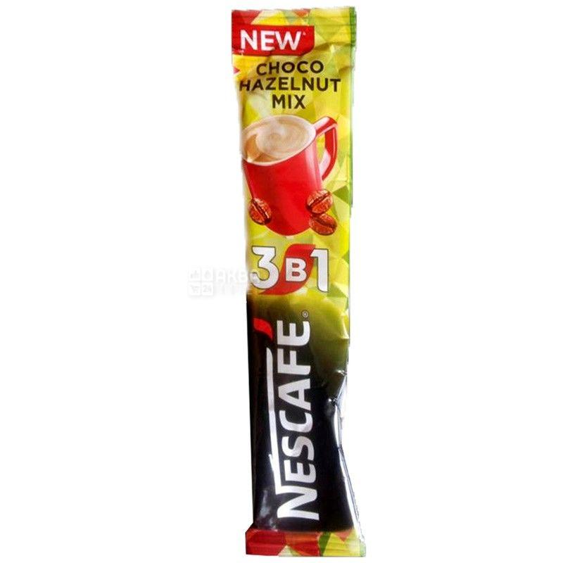 Nescafe, 20шт., кавовий напій, Choco Hazelnut Mix 3 в 1