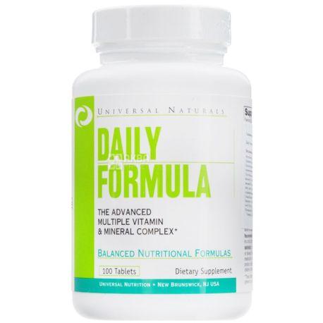 Universal Nutrition, 100 таб., витаминно-минеральный комплекс, Daily Formula, ПЭТ