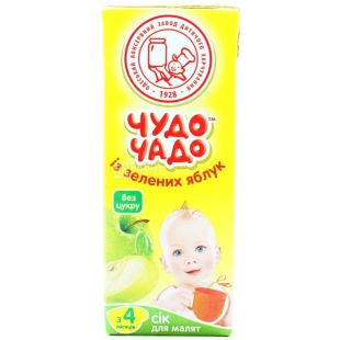 Chudo-Chado, 200 ml, juice, Green Apple