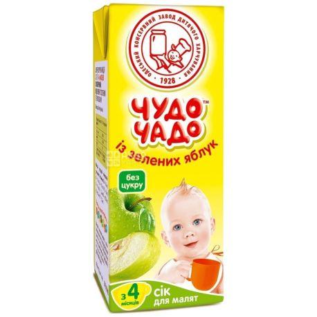 Чудо-Чадо, Зеленое яблоко, 200 мл, Сок для детей, без добавления сахара, с 4 месяцев
