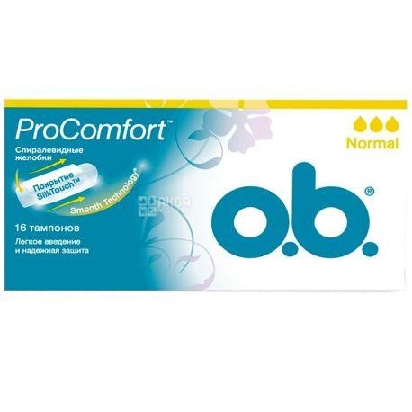 O.b., 16 шт., тампоны, ProComfort Normal