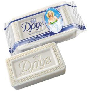 Друг, упаковка 4 шт. по 135 г, хозяйственное мыло, С отбеливающим эффектом