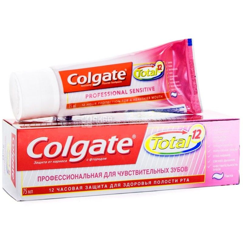 Colgate Total 12, 75 мл, зубная паста, Профессиональная для чувствительных зубов