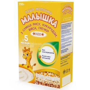 Baby, 250 g, milk porridge, Rice, Corn, Oats, Buckwheat