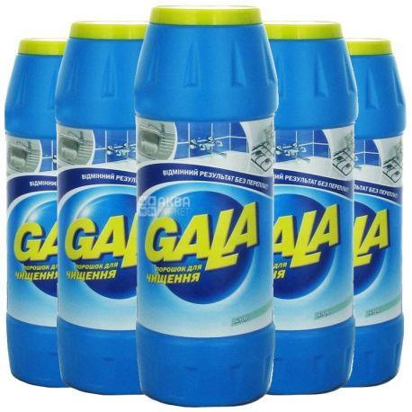 Gala, Порошок для чистки, Хлор, упаковка по 20 шт., 500 г