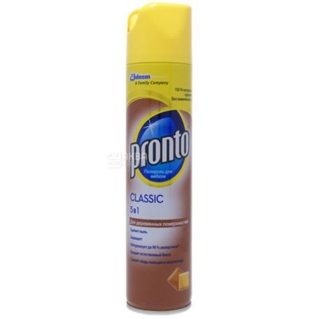Pronto, pack 12 pcs. on 250 ml, polish for wooden surfaces, Classic 5 in 1