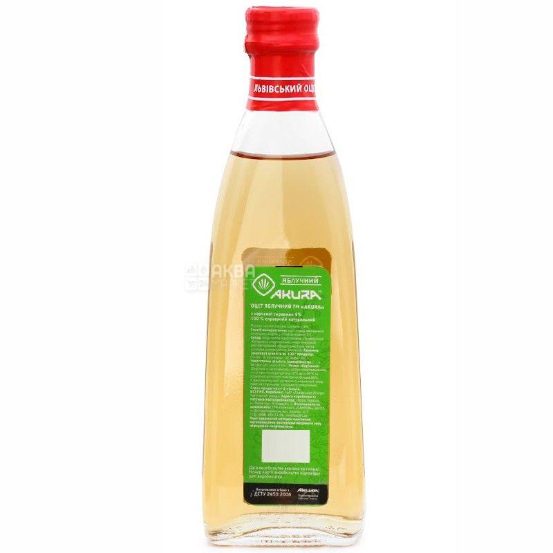 Akura, 330 мл, оцет 6%, Яблучний натуральний, скло