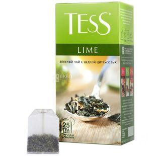 Tess, Lime, 25 пак., Чай Тесс, Лайм, зелений з ароматом цитруса