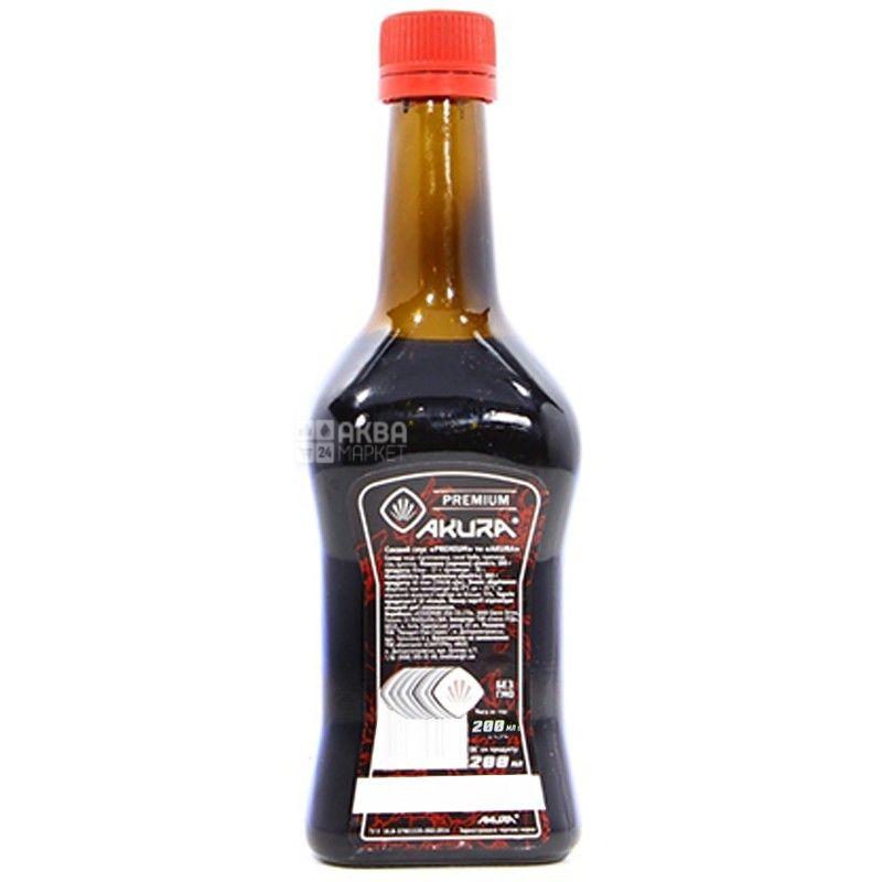 Akura, 200 мл, соєвий соус, Premium, скло