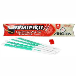Akura, 4 pairs, sushi chopsticks, With training latch