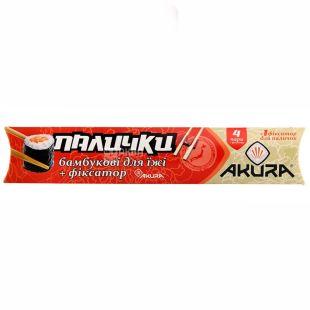 Akura, 4 пари, палички для суші, З навчальним фіксатором