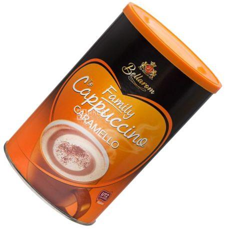 Bellarom, Cappuccino Caramello, 500 г, Белларом, Капучино з карамеллю, кавовий напій, розчинний, тубус