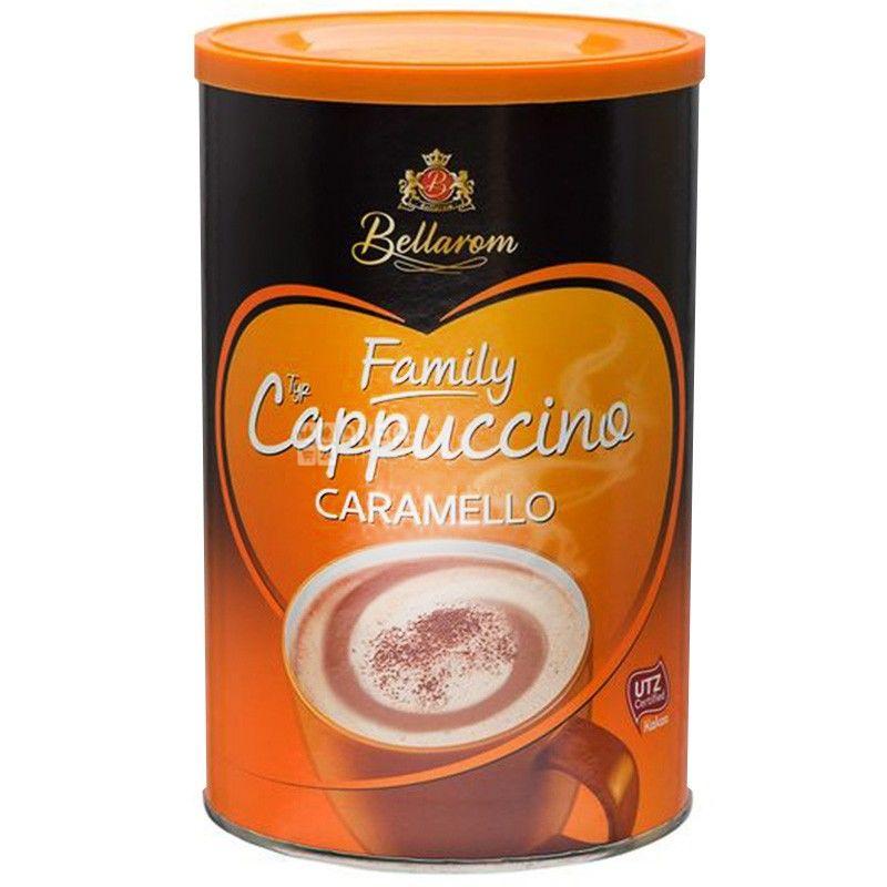 Bellarom, Cappuccino Caramello, 500 г, Белларом, Капучино с карамелью, кофейный напиток, растворимый, тубус