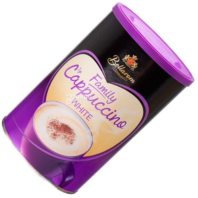 Bellarom, Cappuccino White, 500 г, Белларом, Капучино со сливками, кофейный напиток, растворимый, тубус