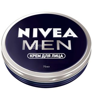 Nivea Men, 75 мл, крем для лица, для мужчин, ж/б