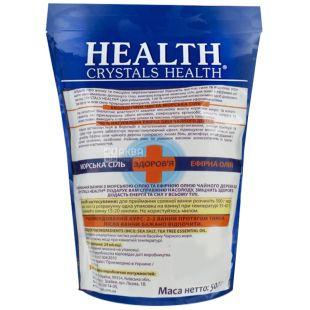 Crystals Health, 500 г, cоль для ванн, Чайное дерево, м/у